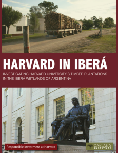 A report from the Responsible Investment at Harvard Coalition and the Oakland Institute reveals businesses owned by Harvard are exploiting a community in Argentina.