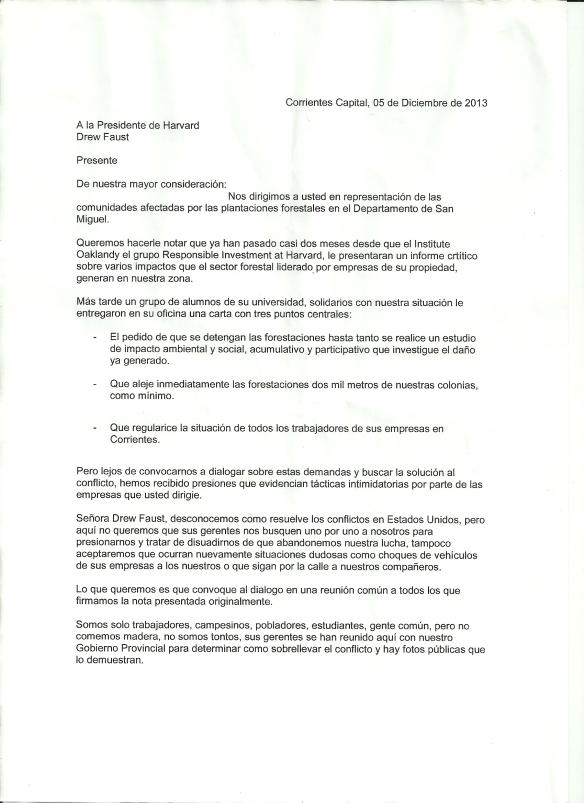 Dec 5 Letter, Spanish, Page 1